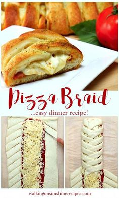 Pizza and Pepperoni Braid an Easy Dinner Recipe from Walking on Sunshine. Pizza and Pepperoni Braid an Easy Dinner Recipe from Walking on Sunshine. Quick Recipes, Easy Dinner Recipes, Easy Meals, Cooking Recipes, Mini Pizza Recipes, Pampered Chef Recipes, Amazing Recipes, Easy Cooking, Healthy Cooking