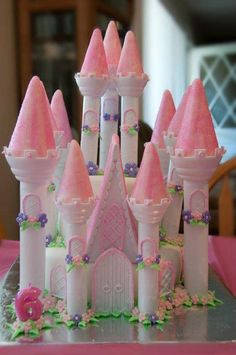 "Princess Castle Cake by ""Cakes by Kim"" Placentia, CA"