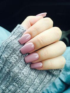 Nude nails , acrylic nails