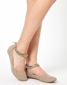Chain Strap Flats