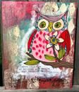 Owl painting can be painted in any colors you choose. Cute !