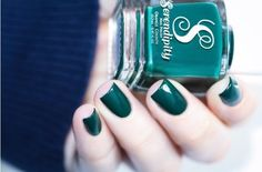 Just in time for St. Patrick's Day, Emerald green nail polish by Serendipity Nail Polish available now at snailvinyls.com