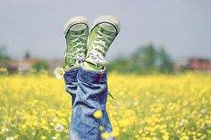Green shoes. And I think it's a great pic.