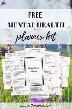 - New Ideas Free Mental Health Planner Bundle! This mental health planner kit contains a daily planner, workout tracker, g Free Mental Health, Mental Health Journal, Mental Health Disorders, Stress Disorders, Bipolar Disorder, Planner Pages, Printable Planner, Free Printables, Planner Inserts