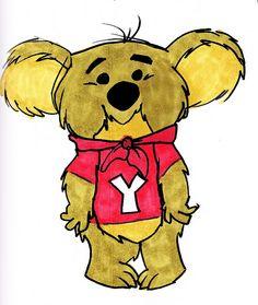 kwicky koala   Hanna Barbera: Laff-A-Lympics Proposal; Yogi Yahooey's -Kwicky Koala