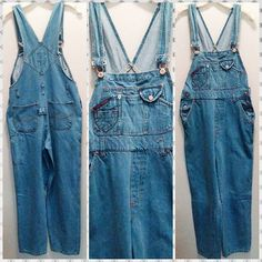 "#90s #bluenotes tapered leg ankle length denim #overalls #momjeans Women's size S-M.  Waist up to 30"", up to 38"" hip and 27"" inseam."