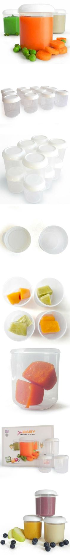 Baby Food Storage Containers with Lids - 12/5oz Jar Set BPA Free - Freezer Safe Includes 12 - 5 ounce containers. Holds 1 - 4 ounces of pureed fruits or veggies. 2 inch wide mouth easily fits your frozen cubes. BPA Free, Microwave, Dishwasher, and Freezer Safe. Made in the USA.  #Littleware #Baby_Product
