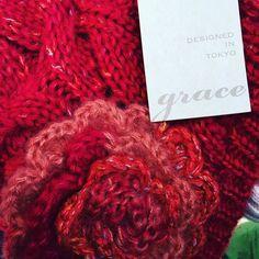 """grace designed in Tokyo"" #grace #design #tokyo found at the #Alaskastatefair #hat #red #knit totally should have bought it.... #regret #fashion"