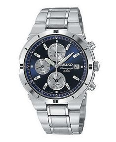 Seiko Watch, Men's Chronograph Stainless Steel Bracelet 38mm SNA695 - Men's Watches - Jewelry & Watches - Macy's