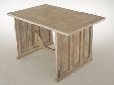 Bureau. Mod. TOSCANO Furniture, Home Decor, Couches, Mesas, Polished Concrete, Door Panels, Writing Desk, Solid Wood, Interior Design