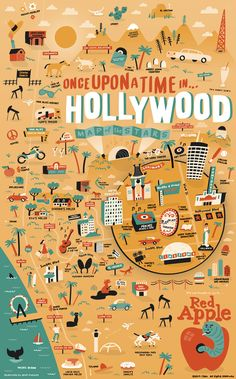 "Illustrated Movie Map for ""Once Upon a Time in Hollywood"" — Nate Padavick Original Movie Posters, Movie Poster Art, Los Angeles Map, Quentin Tarantino Films, Venice Map, Map Maker, Film Movie, Movies, Movie Posters"
