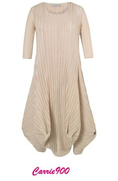 ed74b0ed3 chesca Crush Pleated Drape Dress, Chamapagne at John Lewis & Partners