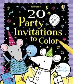 Have your children help create their own party invitations with these wonderful cards. The cardstock is durable and holds up well to all kinds of coloring materials (my daughters use markers, without it bleeding through). Such a cute idea! Check out the other cards to color too!