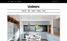 8. Unletro – Blog Website Template Blog Websites, Magazine Website, Grid Layouts, Web Design Inspiration, Website Template, Tool Design, Free Design, Architecture Design, Templates