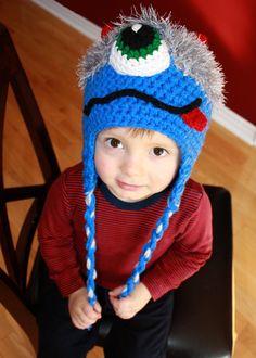 Monster crochet Hat. Baby monster crochet hat. by KetisCrochet, $25.46