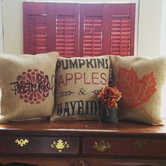 Burlap Fall Pillow Covers