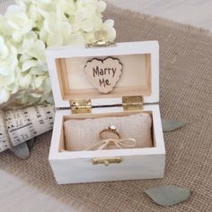 A personal favorite from my Etsy shop https://www.etsy.com/listing/265966528/proposal-engagement-box-wedding-ring-box