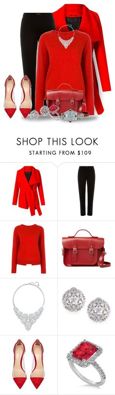 """Red Sweater Day"" by sonyastyle ❤ liked on Polyvore featuring Uma 