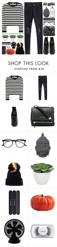 """halloween vibing"" by sophieelise97 ❤ liked on Polyvore featuring Miu Miu, Givenchy, Illesteva, Three Hands, Eugenia Kim, Torre & Tagus, MAC Cosmetics, Keystone and Sephora Collection"