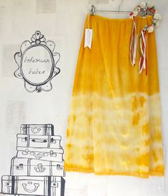 Love the color! SUNSHINE Womens Tie Dye UpCycled Long Slip SKIRT  by bohemianbabes, $25.00
