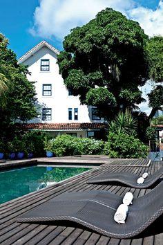 Rio: a piscina do exclusivo Hotel Santa Teresa, no bairro de mesmo nome