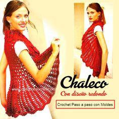 Chaleco glamoroso tejido con crochet con moldes y explicaciones en español