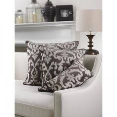 Ikat Design Throw Pillow for a cozy couch #cozy #fallessentials