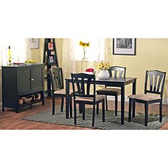 @Overstock - Complete your dining room in style with this six-piece dining room furniture set. Featuring a rectangle table and four upholstered chairs with a classic sheen, this set also includes an attractive buffet with ample space for storage.http://www.overstock.com/Home-Garden/Montego-6-piece-Dining-Room-Furniture-Set/5535636/product.html?CID=214117 $389.99