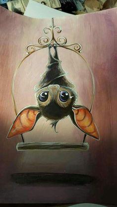 Bat By Bianca Roman Stumpff Illustration Mignonne, Art Et Illustration, Tattoo Illustrations, Cute Animal Illustration, Halloween Illustration, Cute Animal Drawings, Cute Drawings, Cute Halloween Drawings, Halloween Tattoo