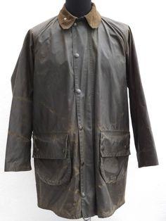 Vintage c 1982 -87 Men s Gamefair Barbour Waxed Cotton Jacket - 38 - 97cm