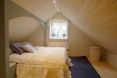 Such a bedroom is a perfect solution for small houses where space is at a premium. Description from onekindesign.com. I searched for this on bing.com/images