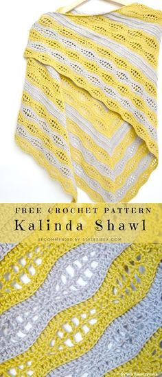 Kalinda Shawl Free Crochet Pattern Level: beginner hook: 3.5 mm (E) yarn: Scheepjes Whirl Author: by Sylwia Kawczyńska #crochetfreepatternsforlady #crochetfreepatternforshawl #crochetfreepatternfortunic #crochethat #crochetsunhat #freecrochetpatternsforsunhat #crochetstitch #freecrochetPatterns