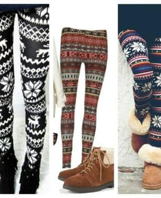 Cozy sweater leggings <3 perf for winter month ... Adorbs with a great pair boots and long sweater!