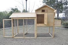 New Large Chicken Hen, Poultry Coop, Hen House Pen. I need ideas for when I get chickens. Large Chicken Coop Plans, Chicken Coop Designs, Building A Chicken Coop, Small Chicken Coops, Backyard Chicken Coops, Diy Chicken Coop, Chickens Backyard, Chicken Feeders, Poultry Cage