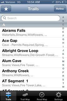 There's an App for that: Smokies Hiking Trails