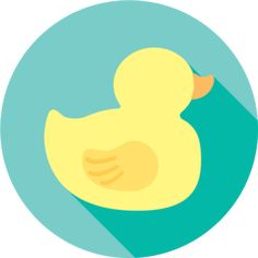 Duck | Design | Flat | Icon | Illustration | Animal | Rubber Duck | Ducky | Duckling | Kayla Folino
