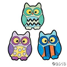 Color Your Own Owl Magnets