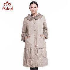 Астрид 2016 пальто женские демисезонные распродажа весной  мода свободного покроя женский плащ длиной верхняя одежда фиолетовый одежда для леди высокое качество AS-8162