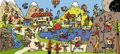 Actividades para trabajar la atención y la percepción visual el invierno en a4 y a3 las montañas Hidden Pictures, How To Speak French, Sewing Art, Naive Art, Character Illustration, Art Museum, Bowser, Preschool, Images