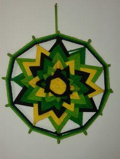 Mandala verdes 12 Puntas