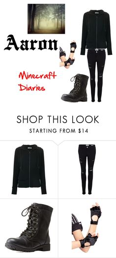 """Aaron (Minecraft Diaries)"" by benjiedaisy ❤ liked on Polyvore featuring Tomas Maier, Frame Denim, Charlotte Russe and Leg Avenue"