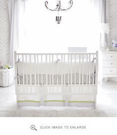 New Arrivals Crib Bedding Annabelle Crib Set | Polka Dot Peacock