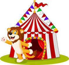 "Photo from album ""Цирк"" on Yandex. Cute Lion, Views Album, Vector Art, Royalty, Cartoon, Yandex Disk, Illustration, Painting, Tent"