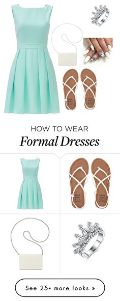 """""""Formal-ish party"""" by chelsienicole27 on Polyvore featuring Kate Spade, Billabong and Nine West"""