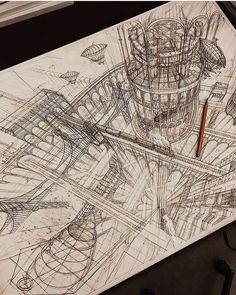 architecture old sketch Artist Creates Meticulously Architecture Sketches of Buildings Around the World Interior Architecture Drawing, Architecture Drawing Sketchbooks, Conceptual Architecture, Historical Architecture, Architecture Design, Drawing Artist, Drawing Sketches, Drawing Designs, Artist Art