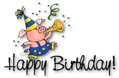 Happy Birthday To Steelers Fever Forums Happy Birthday Pig, Happy Birthday Messages, Happy Birthday Quotes, Happy Birthday Greetings, It's Your Birthday, Birthday Cards, Birthday Stuff, Pig Illustration, Illustrations