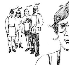 Moona, Juho, Kaarlo, Petri, Aino. Kaarlo Stauffer