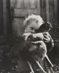 Nell Dorr (1893-1988), Bethany Holding Chicken, 1942-1943, Gelatin silver print (this is me in another life..)