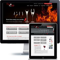 Wine & Glass Company website built with PHP/HTML5 using responsive web design.