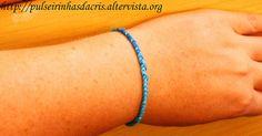 Pulseirinha com as cores do mar Trieste, Fitbit Flex, Brazil, Delicate, Bracelets, Jewelry, Diy Bracelet, Medicinal Plants, Dashboards